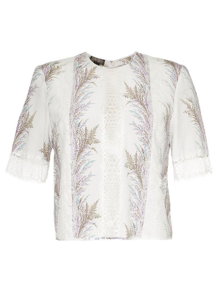 Giambattista Valli embroidered panelled blouse - White