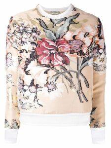 Fendi layered floral top - Neutrals