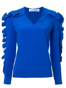 Victoria Victoria Beckham ruffled sleeve blouse - Blue