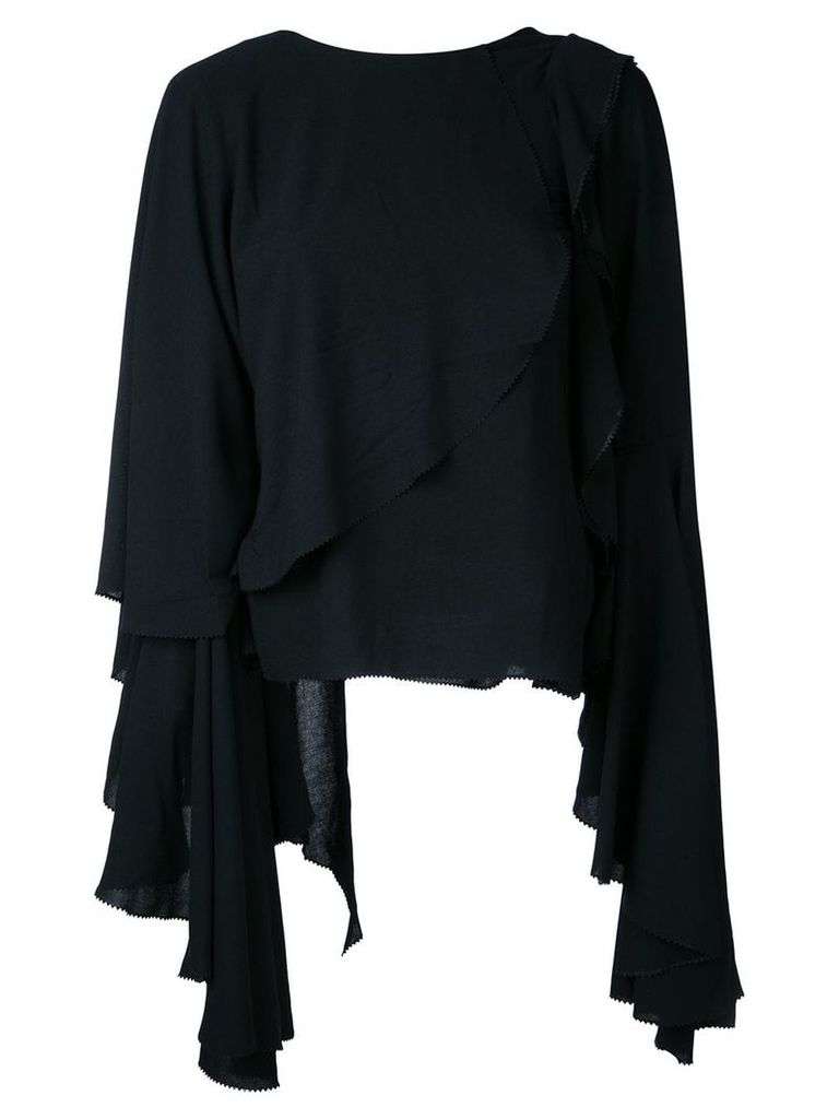 Robert Wun layered top - Black