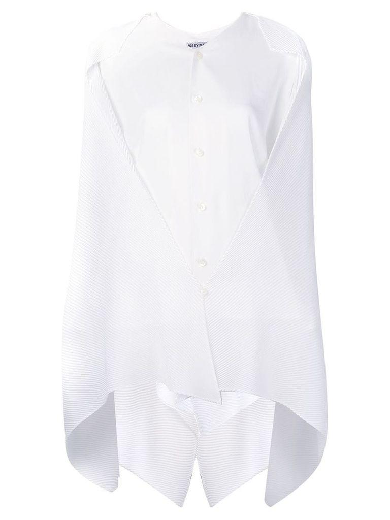 Issey Miyake draped blouse - White