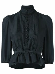 Dsquared2 'Victorian' high collar blouse - Black