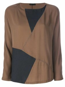 Fabiana Filippi geometric top - Brown
