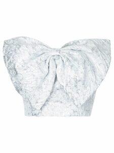 Bambah slanted bow bustier - Metallic
