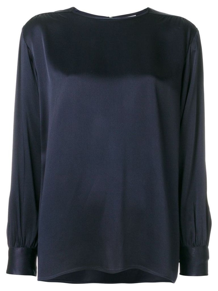 Yves Saint Laurent Vintage classic shift blouse - Blue