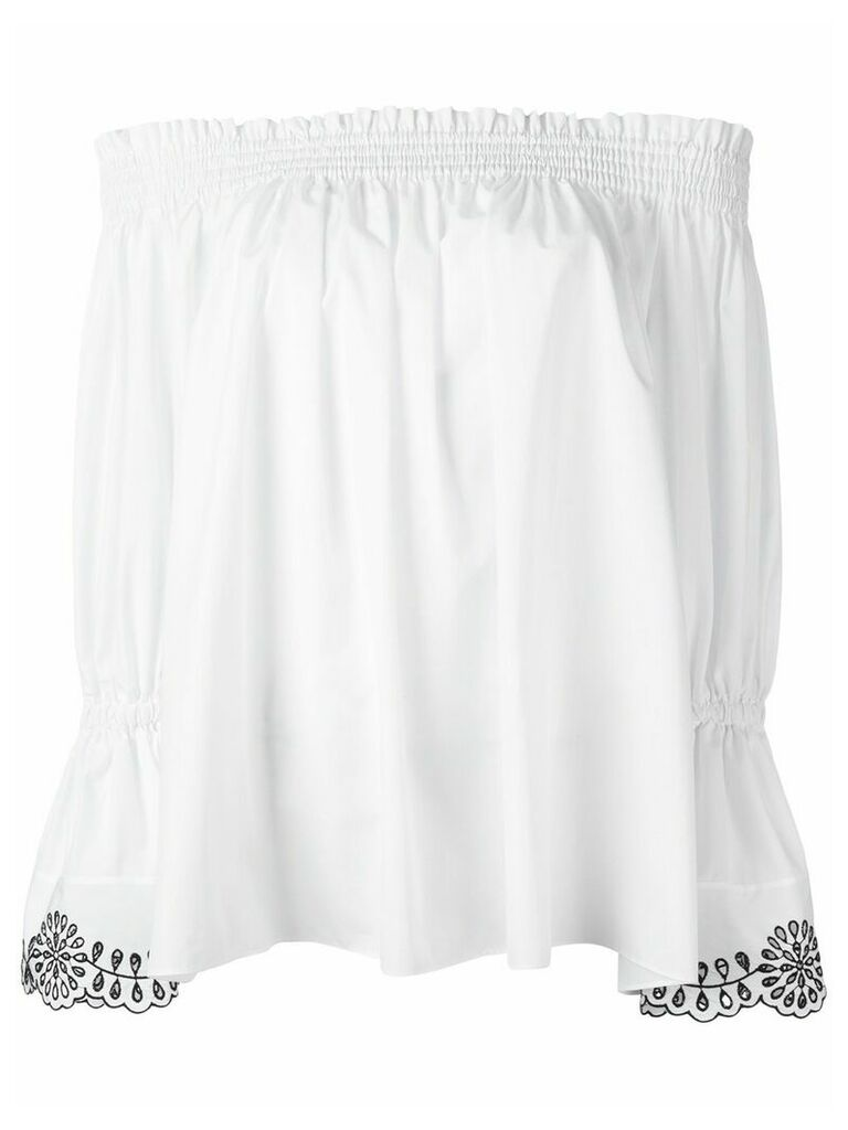 Alexander McQueen off the shoulder blouse - White