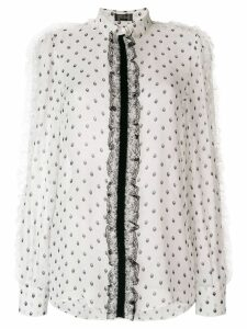 Giambattista Valli lace detail blouse - Neutrals