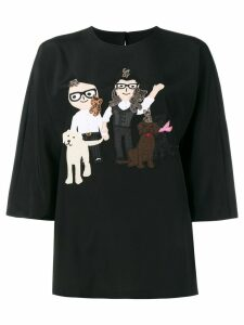 Dolce & Gabbana Designers patch top - Black