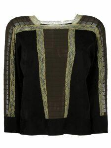 Etro lace detail blouse - Black