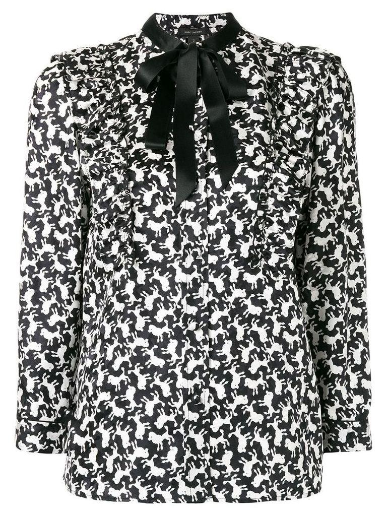 Marc Jacobs poodle print shirt - Black