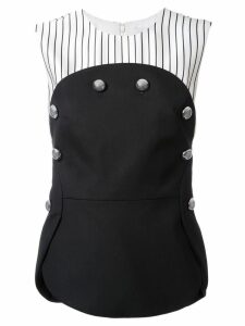 Monse button detail blouse - Black