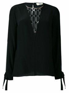 Fendi sheer panel blouse - Black