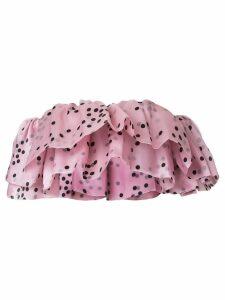 Bambah double ruffle top - Pink