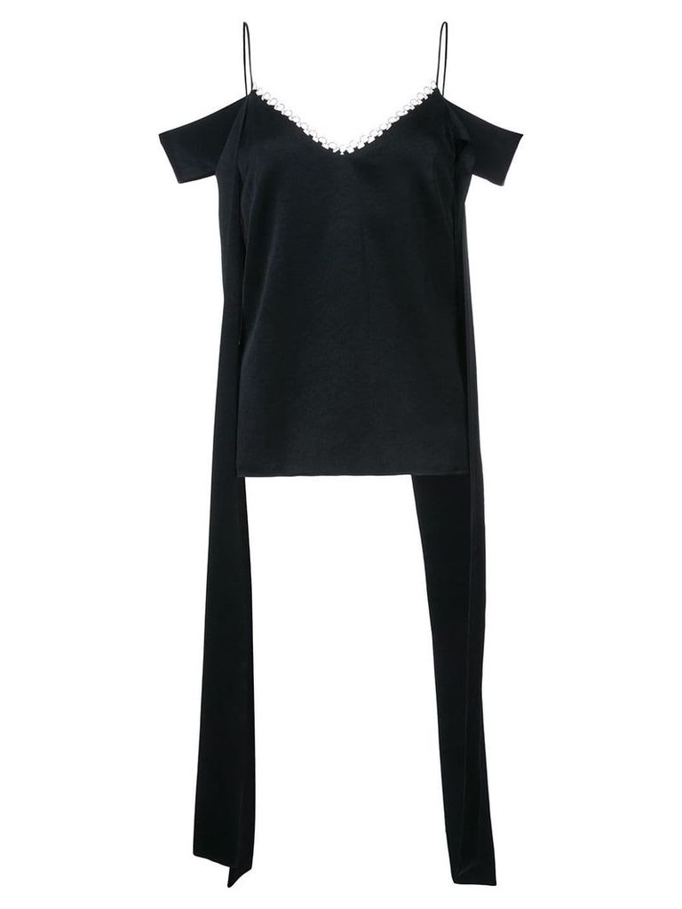 Ellery cold shoulder top - Black