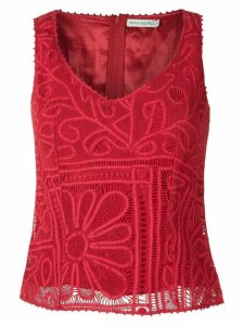 Martha Medeiros lace blouse - Red