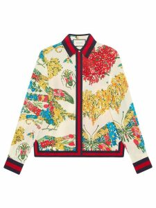 Gucci corsage print silk shirt - Multicolour