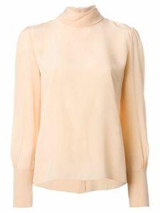 Chloé high neck blouse - Yellow