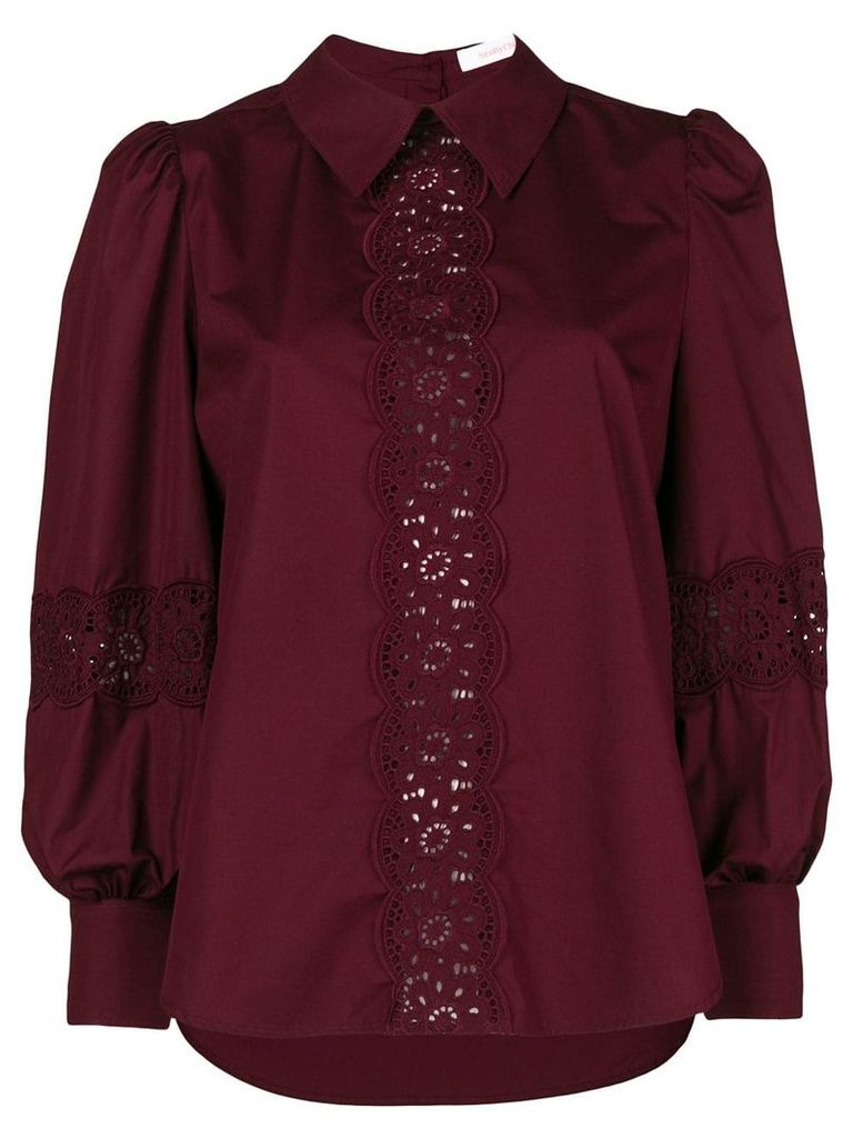 See By Chloé lace trim blouse - Red