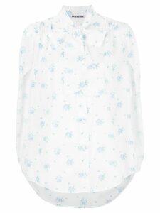 Balenciaga floral short sleeved shirt - White
