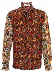 JW Anderson men's paisley zip-through shirt - Red