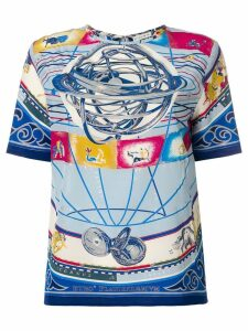 Etro Cosmo-print blouse - Blue