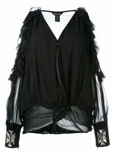 Thomas Wylde cold shoulder blouse - Black
