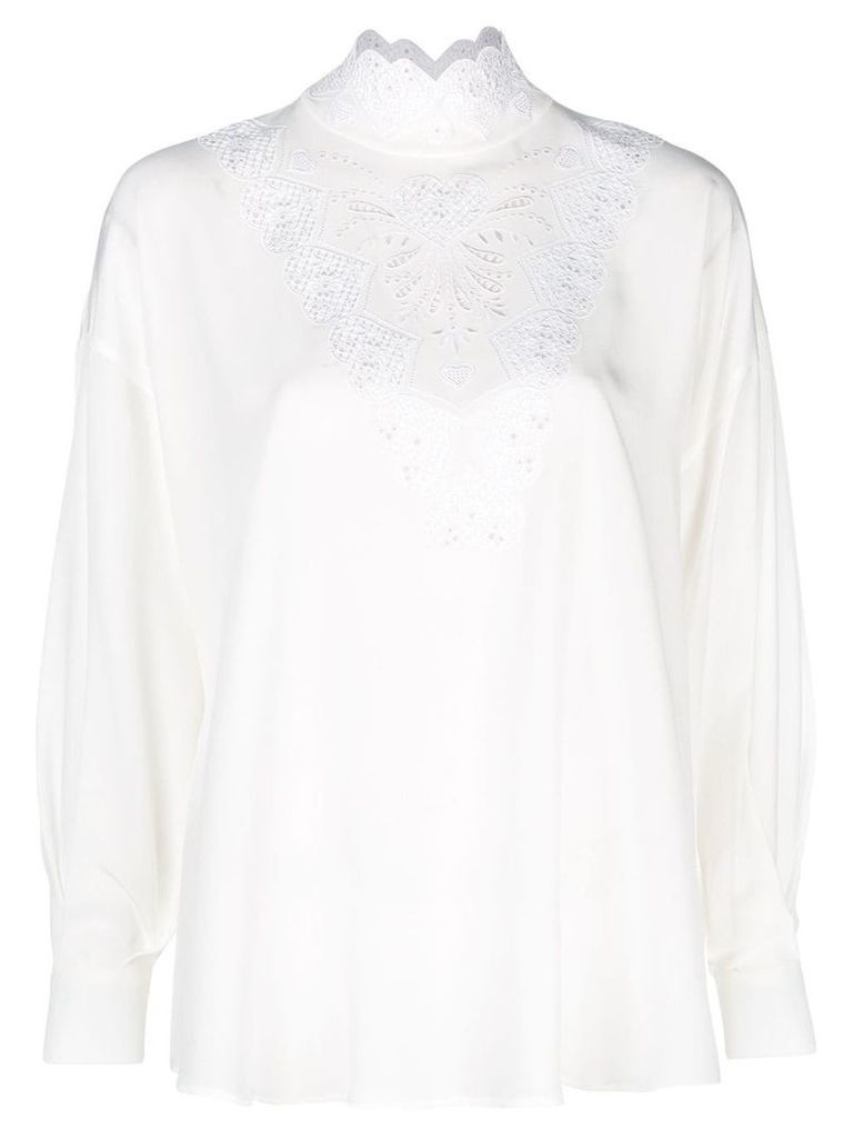 Fendi long-sleeve blouse - White