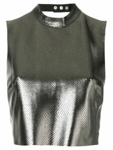 Manokhi cross back strap crop top - Metallic