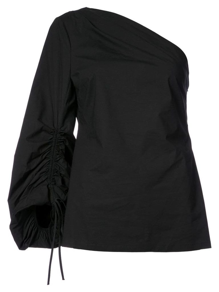 Josie Natori one shoulder blouse - Black