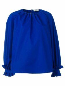 Fendi ruffled oversized blouse - Blue