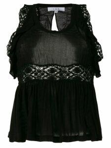 Iro crochet and frill detailed blouse - Black