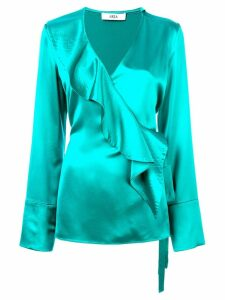 AREA ruffle-front blouse - Green