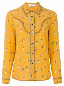 Coach penguin print blouse - Yellow
