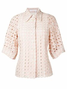 Chloé eyelet lace shirt - Pink