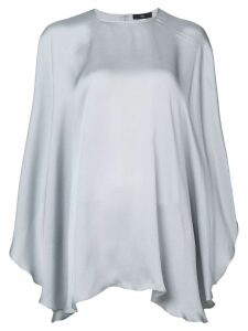 Voz Chiffon Capelet blouse - Grey