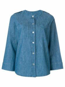 A.P.C. buttoned denim blouse - Blue