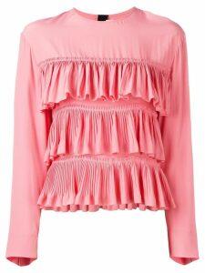 Marni ruffled long-sleeve blouse - Pink
