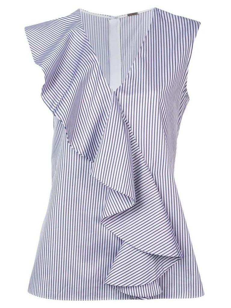 Adam Lippes striped ruffle blouse - Pink