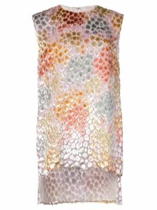 Adam Lippes painted asymmetric tunic top - White