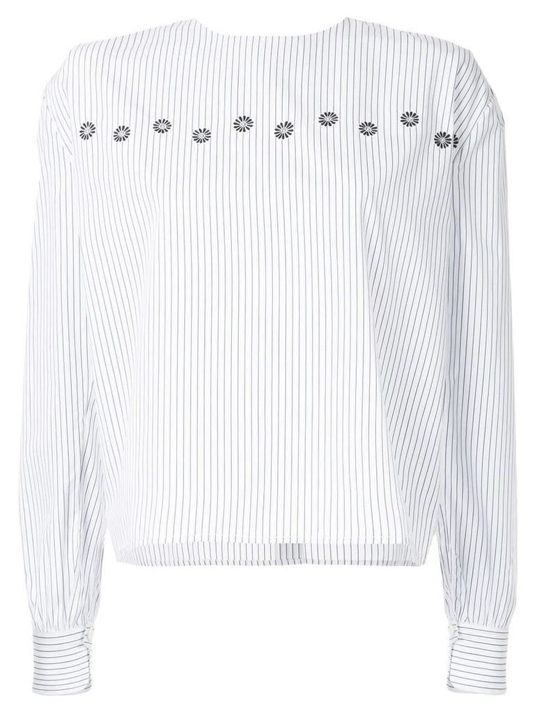 Jupe By Jackie pinstriped blouse - White