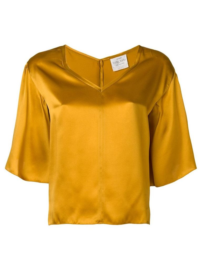 Forte Forte v-neck blouse - Orange