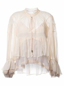 Chloé colour block tiered top - Neutrals