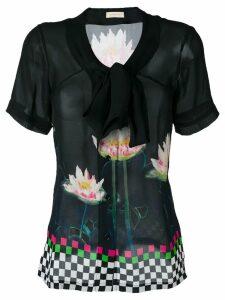 Wunderkind floral print blouse - Black