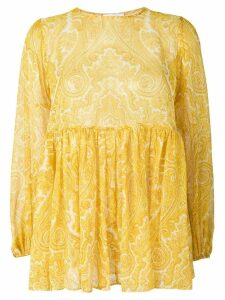 Zimmermann flared paisley blouse - Yellow