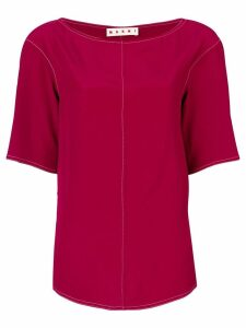 Marni seam detail T-shirt - Red