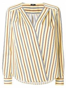 Jil Sander Navy striped wrap front blouse - Yellow