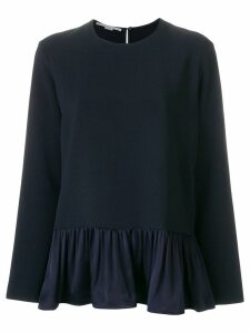 Stella McCartney ruffle trim top - Blue