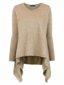 Uma Raquel Davidowicz asymmetric knit top - Neutrals