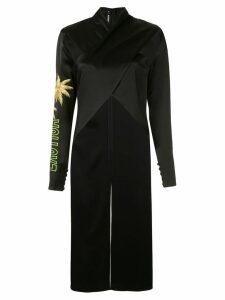 Filles A Papa embroidered asymmetric blouse - Black