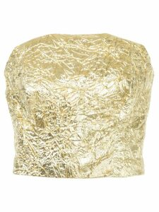Bambah crinkle tube top - Metallic